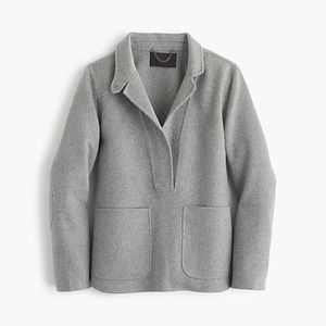 J Crew Collection double faced cashmere popover XS